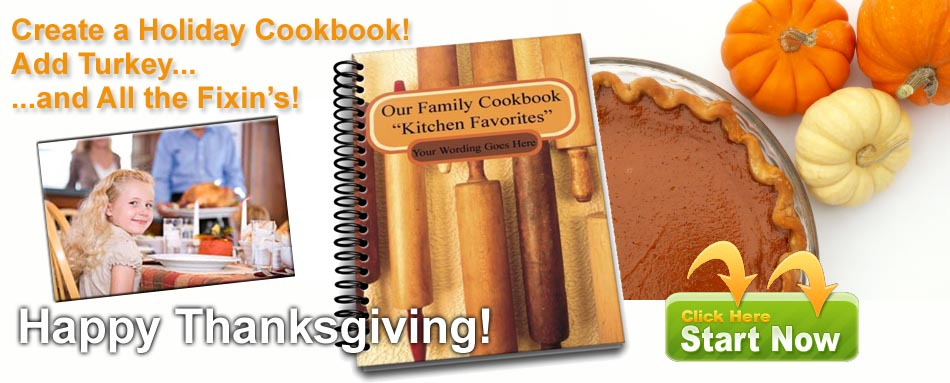 Create a Thanksgiving cookbook