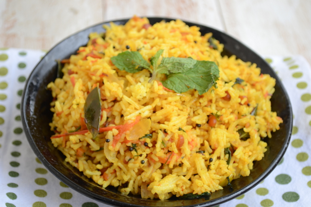 This recipe for Vagharelo Bhaat (Indian Fried Rice), by Puja Shah , is ...