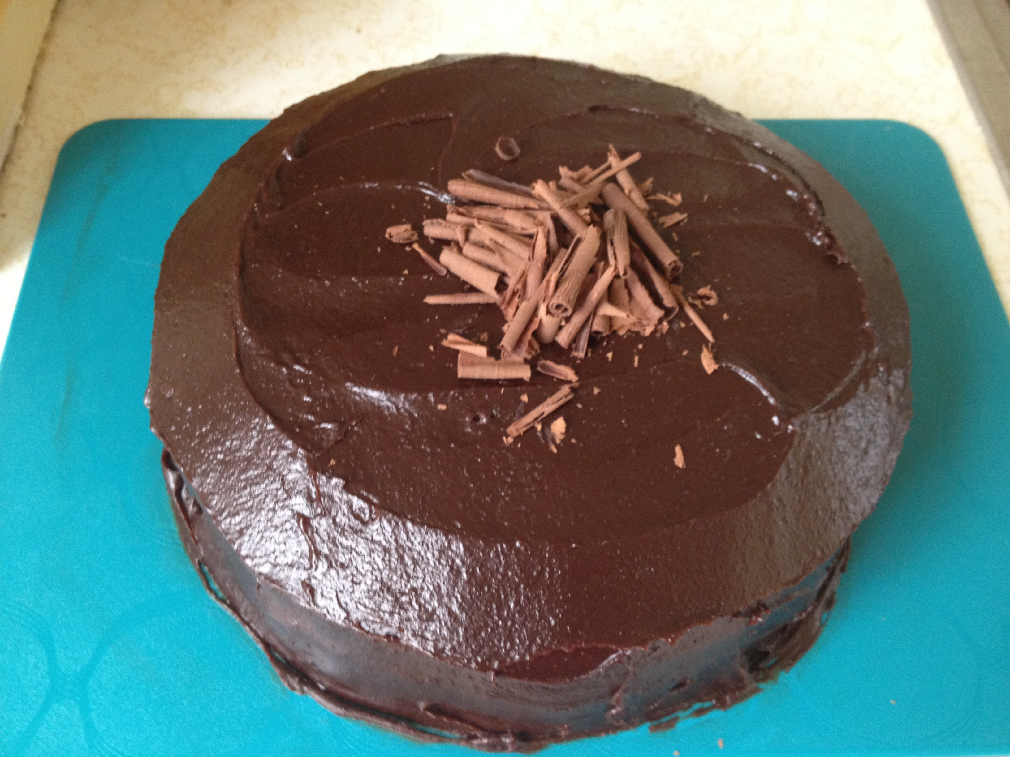 This recipe for Chocolate Mocha Cake with Mocha Fudge Frosting, by Ali ...