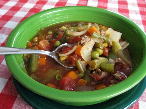Ground Beef Vegetable Soup recipe - from the Katelyn's ...