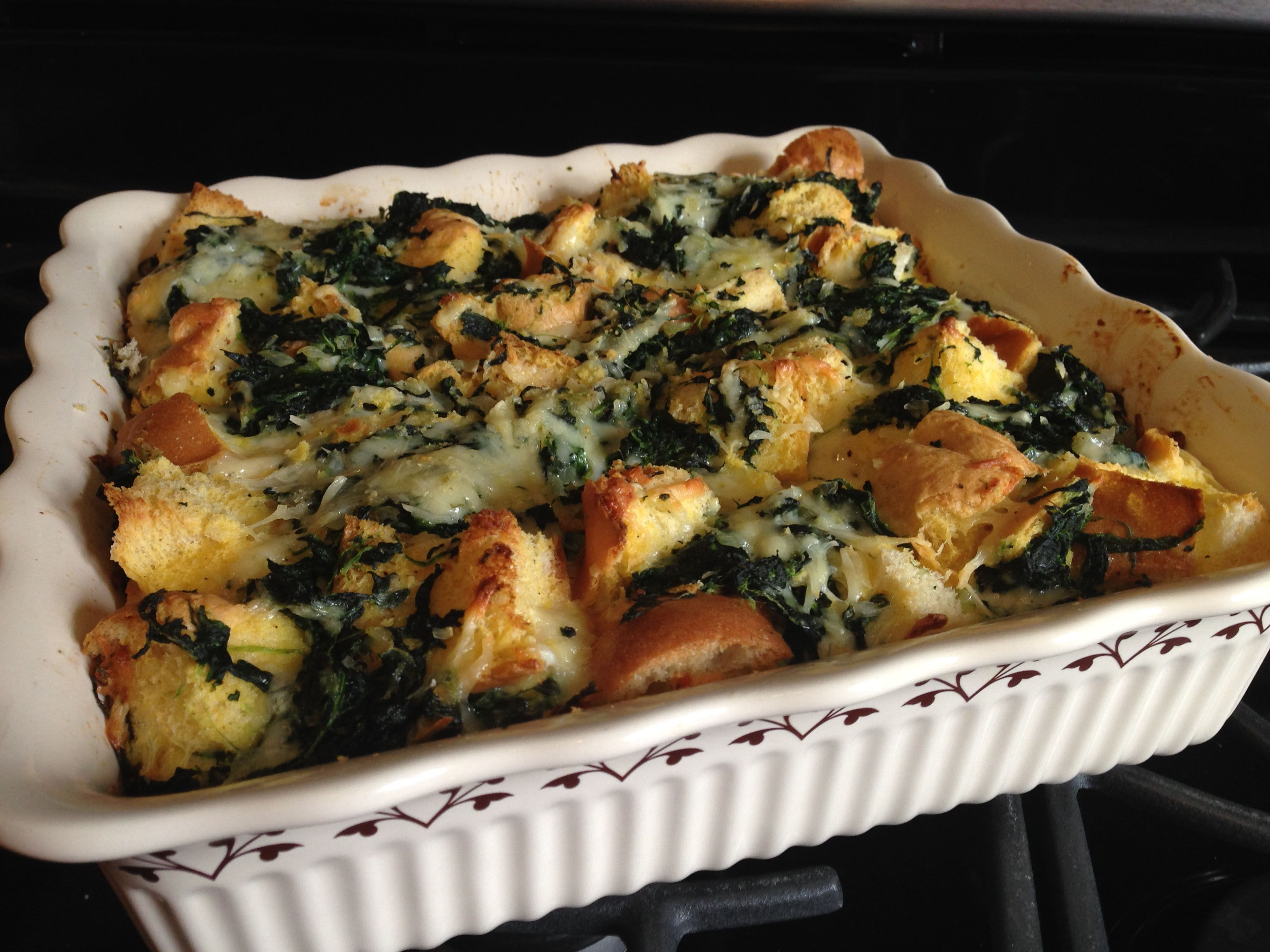 Spinach and Cheese Strata recipe - from the Our Family Cookbook Family ...