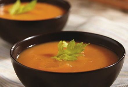 SWEET POTATO AND CARROT SOUP WITH CARDAMOM recipe - from the TEACHERS ...
