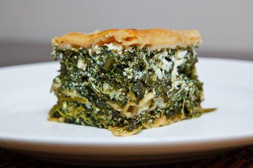 This recipe for Spinach and Feta Lasagna (aka Spanakopita Lasagna), by ...