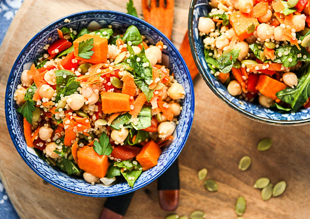 Sweet Potato, Quinoa, and Chick Pea Salad recipe - from ...