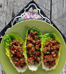 This recipe for Lettuce Wraps, by Carol Courvisier , is from Family ...