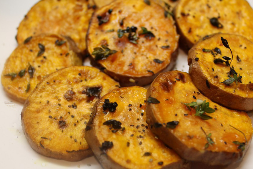 This recipe for Roasted Sweet Potato Rounds, by Claudia Barrett , is ...