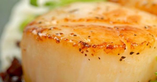 This recipe for PAN-SEARED SCALLOPS WITH HERB BUTTER SAUCE, by Darlene ...