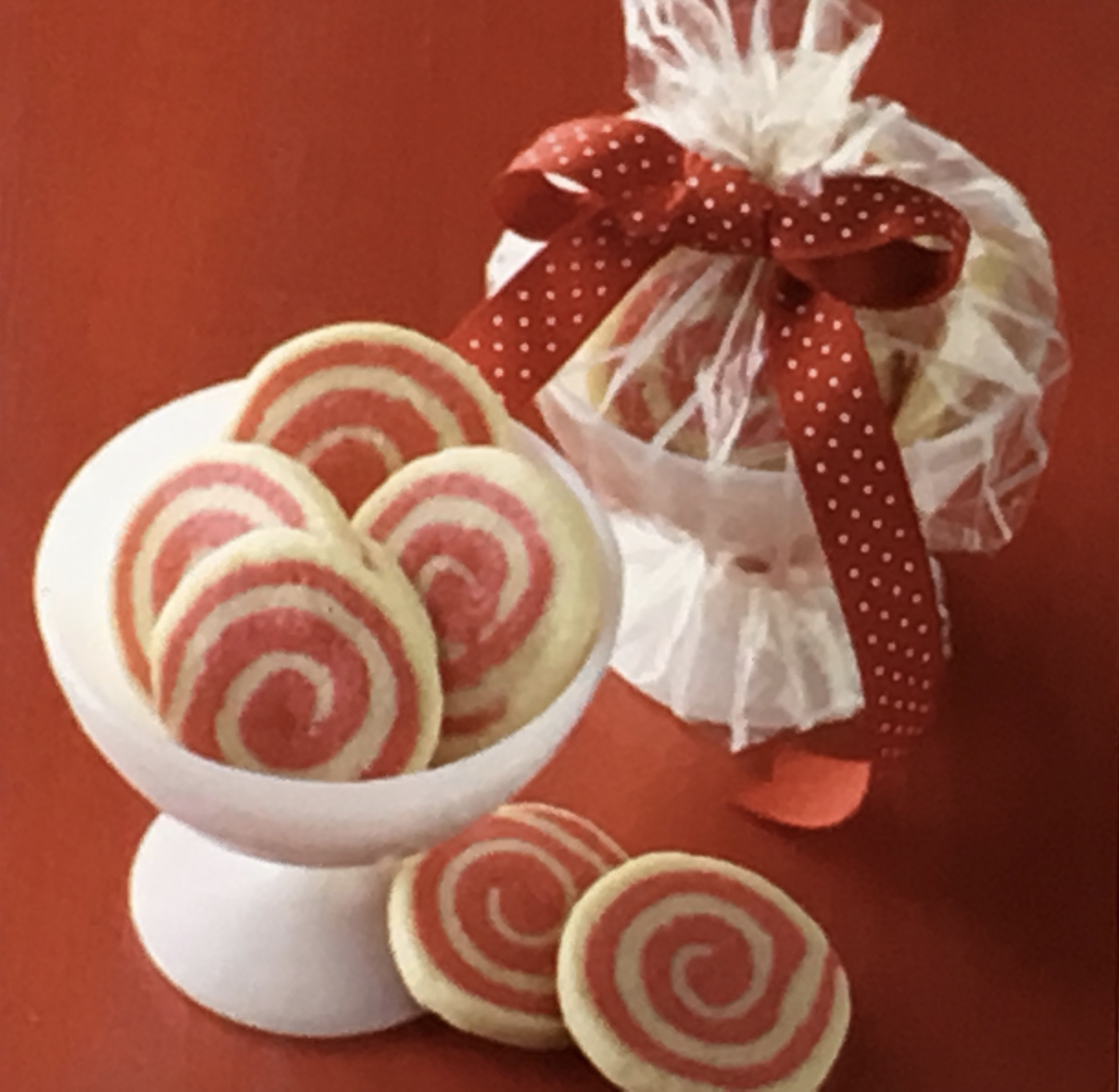 Peppermint Pinwheel Cookies recipe - from the Kathy's Cookin' Family ...