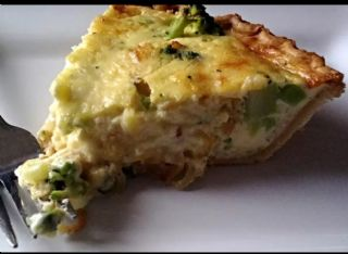 Caramelized Onion and Broccoli Quiche image