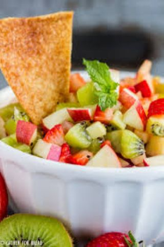 Apple Berry Salsa with Cinnamon Chips image