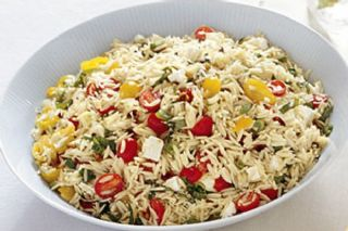 Orzo with Tomatoes, Feta, and Green image
