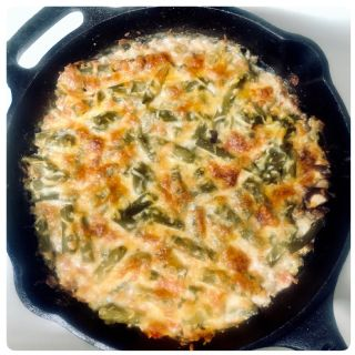 Low Carb Green Bean Casserole- Cast Iron image