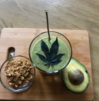 Zoey's CBD Infused Avocado And Oat Smoothie image
