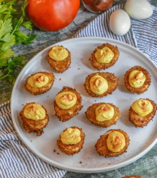 Fried Cajun-Style Deviled Eggs image