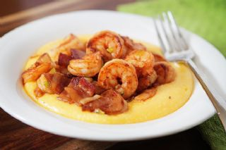 Spicy Shrimp and Cheesy Grits image