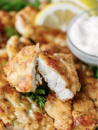 Cheesy chicken fritters image