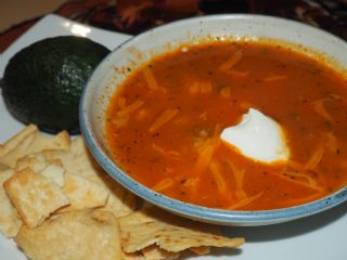 The Best Chicken Tortilla Chip Soup image