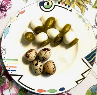 Hard Boiled Quail Egg Poppers image