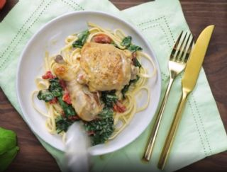 Creamy Crock-Pot Tuscan Garlic Chicken image