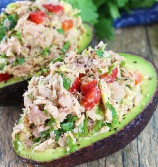 Tuna stuffed avocado image