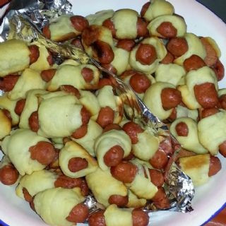 Mini Pigs in a Blanket image
