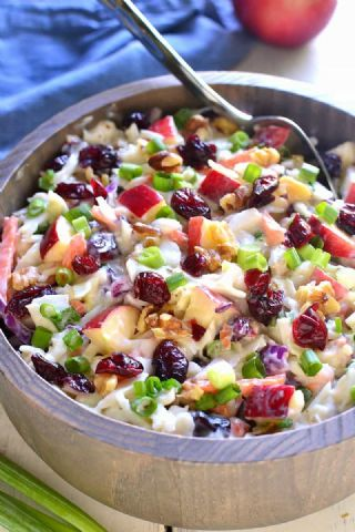 Apple Cranberry Coleslaw image