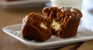 Gingerbread Cream Cheese Muffins image