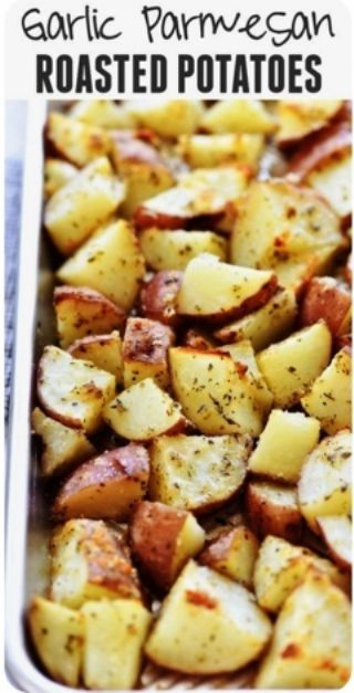 Parmesan Garlic Roasted Potatoes image