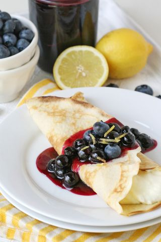 Lemon Blueberry Crepes image