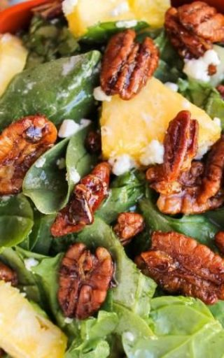 Pineapple Spinach Salad image