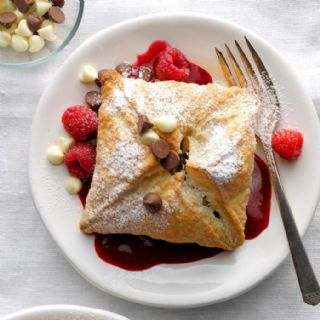 Raspberry Chocolate Pastry Puffs image