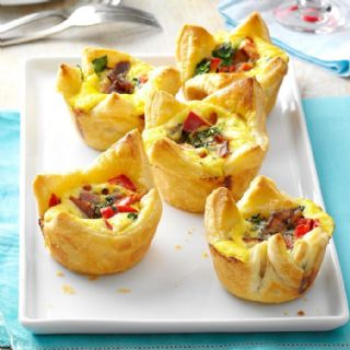 Quiche Puff Pastry Cups image