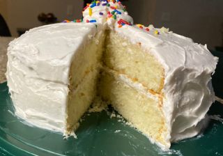 Yellow Cake with Whipped White Vanilla Frosting image