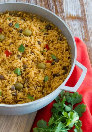 Arroz Con Gandules (Puerto Rican Rice with Pigeon Peas) image