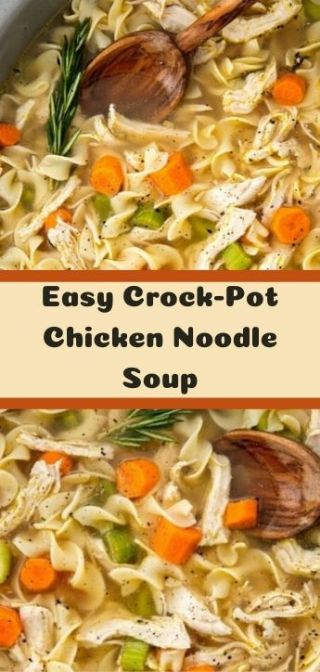 Easy Crock-Pot Chicken Noodle Soup image