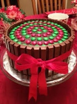 Holiday Kit Kat Cake image