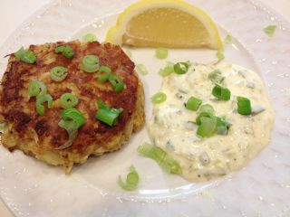 Crab Cakes with Homemade Tatar Sauce image
