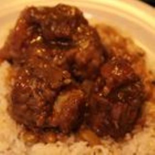 Jamaican Oxtail with Black Beans and Rice image