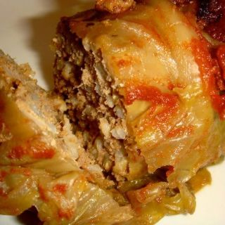 oven baked cabbage rolls image