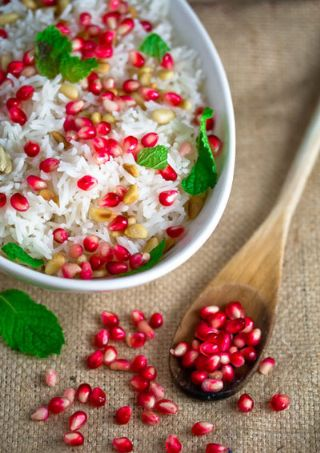 Rice Basmati With Pomegranate Seeds image