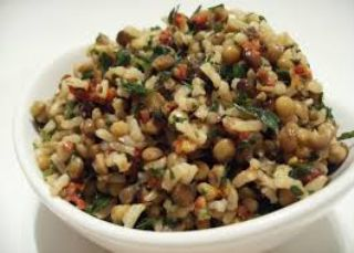 Lentil and rice sauteed image
