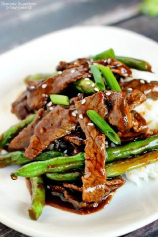 Chinese Green Beans and Beef image