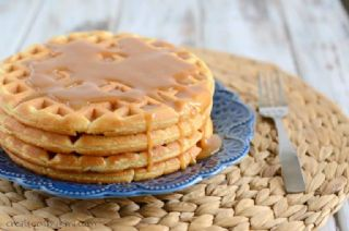 Peanut Butter Waffles with Peanut Butter Syrup image