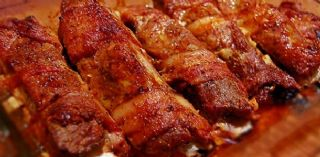 BBQ Bacon Wrapped Ribs Recipe image
