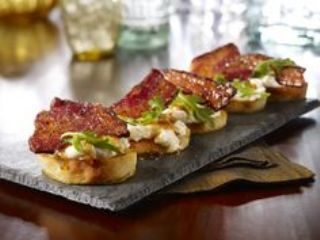 Bruschetta with Bacon and Gorgonzola image