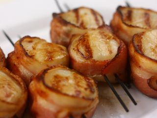 Grilled Bacon Wrapped Scallops image