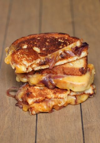 Sweet & Spicy Caramelized Onion BBQ Grilled Cheese Sandwich image