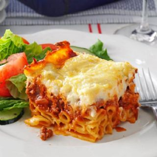 Greek Pastitsio (Baked Greek Lasagna with Meat Sauce and Béchamel) image