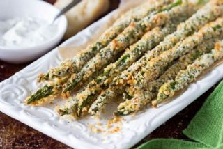 Baked Asparagus Fries with Spicy Garlic Dipping Sauce image