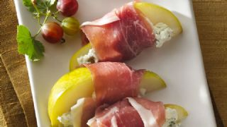 Pear, Goat Cheese and Prosciutto image